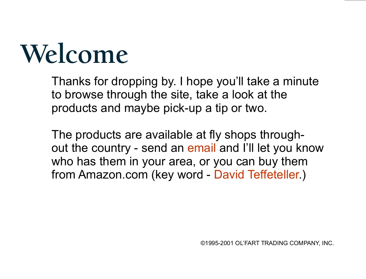 Dave Teffeteller Products for Fly Fishing